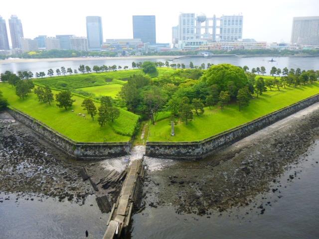 忍藩が担当した品川第三台場(現在のお台場砲台跡地)